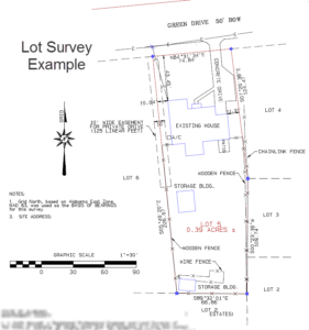 lot survey example